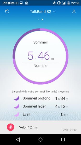 Huawei TalkBand B2 App Screenshot
