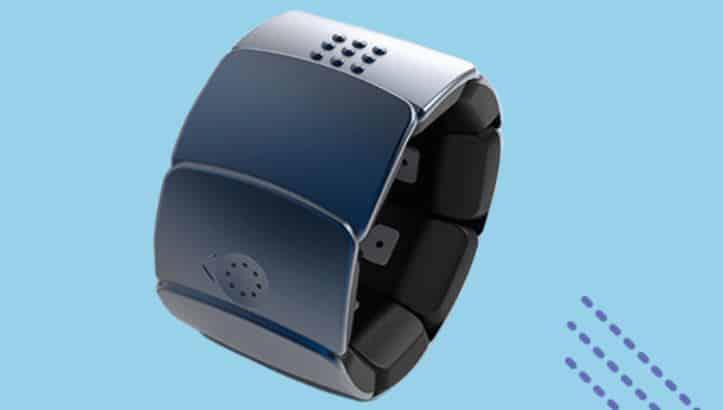 unitact un bracelet connect destination des sourds. Black Bedroom Furniture Sets. Home Design Ideas