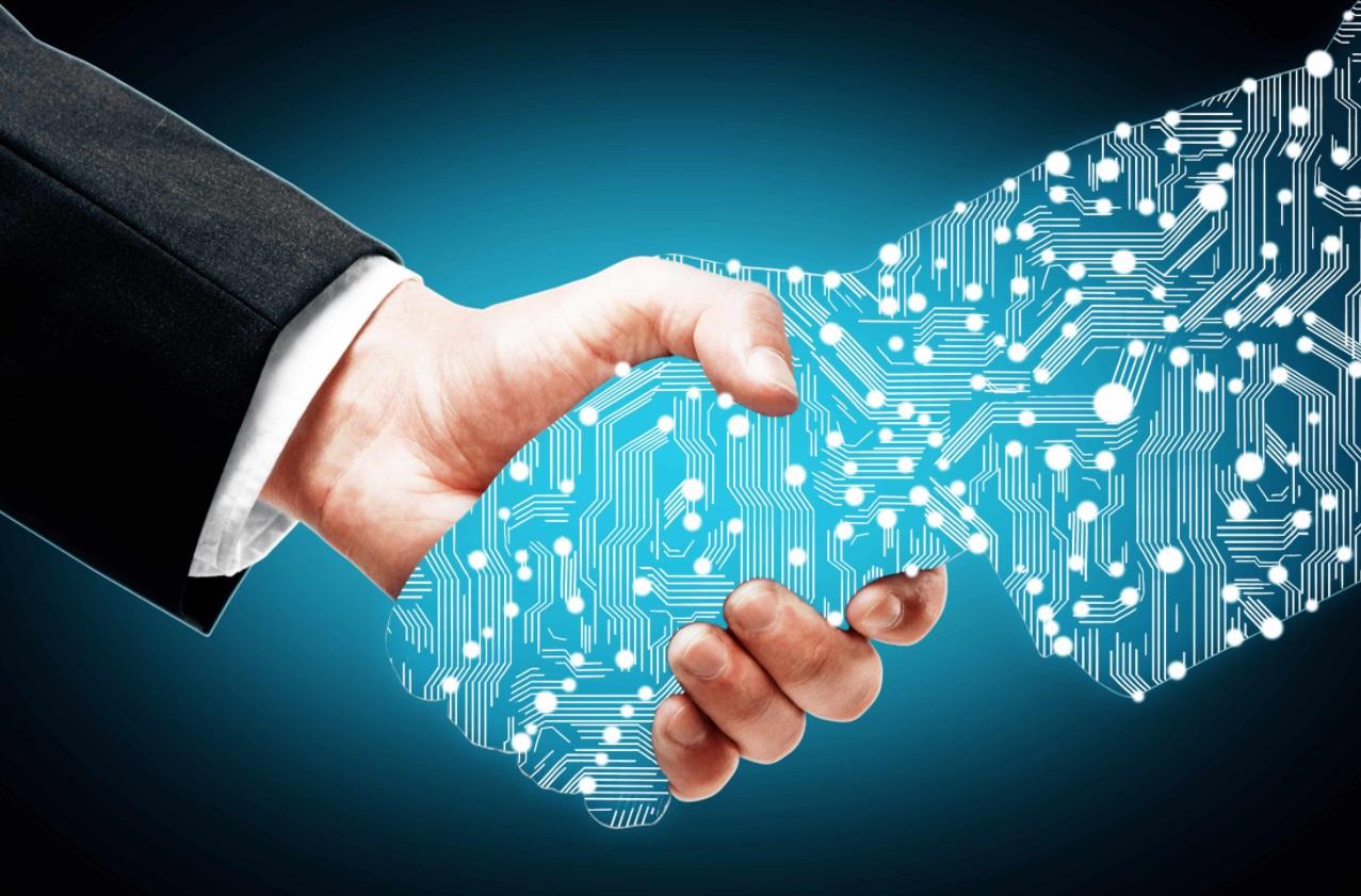 Une main virtuelle et une main humaine.jpg