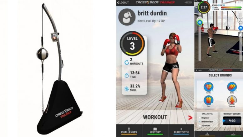 Cross Body Trainer Punching Ball connecté