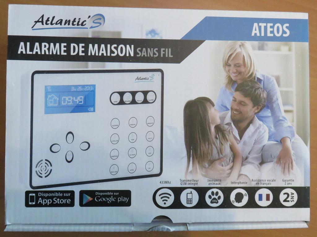 test alarme gsm atlantic 39 s ateos avec ou sans fil page 4 sur 4. Black Bedroom Furniture Sets. Home Design Ideas