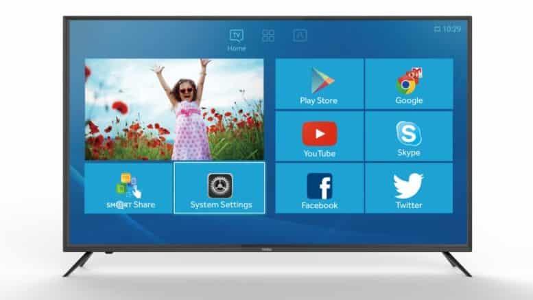 HAIER Série U6000A une TV de salon connectée sous Android