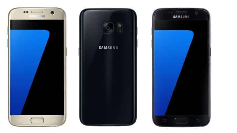 Galaxy S7 Gold Platinum black