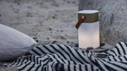 kreafunk aglow enceinte et lampe bluetooth