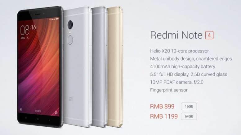 Xiamo Redmi 4