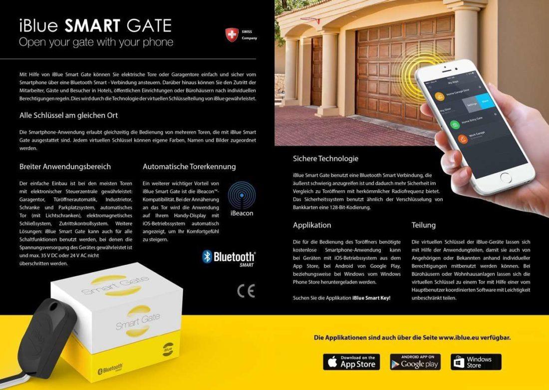 Iblue smart gate quand votre smartphone ouvre votre porte for Application iphone pour ouvrir porte garage