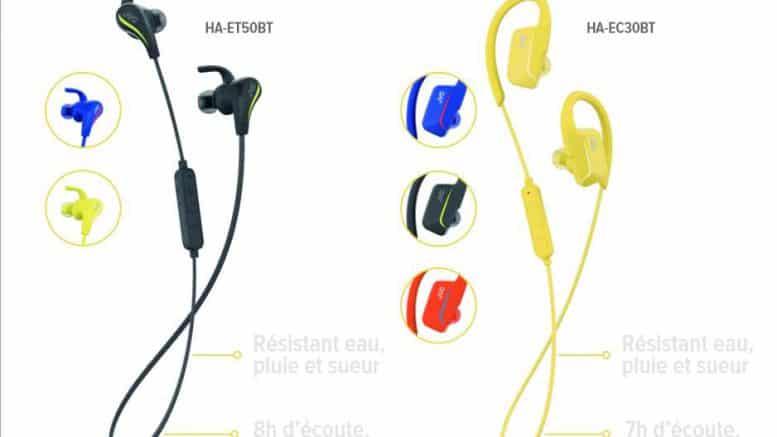 JVC casque sans fil Bluetooth pour sportif