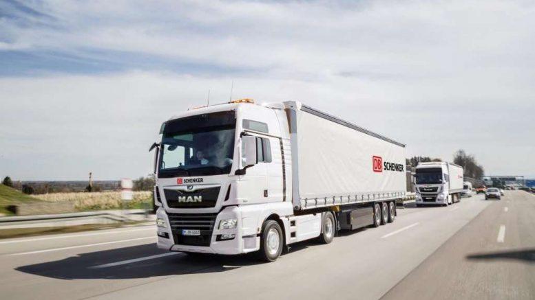 DB Schenker et MAN Camions connectés