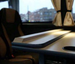 office on wheels bus connecté