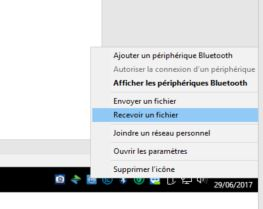 tuto recevoir fichiers par bluetooth sur un pc