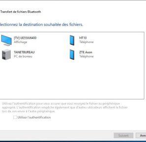 tuto envoyer fichiers par bluetooth sur un pc