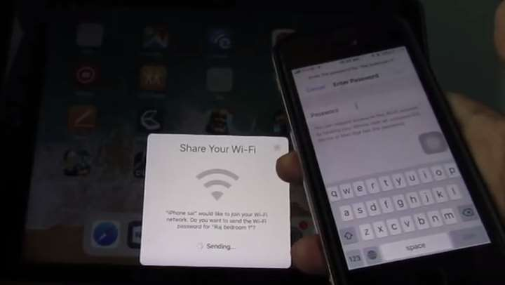 Apple share wifi password ios11