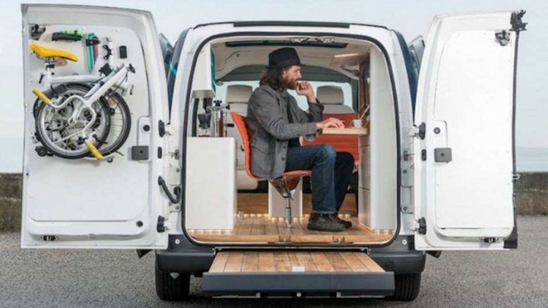 nissan e nv200 le premier bureau mobile connect. Black Bedroom Furniture Sets. Home Design Ideas