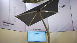 sunflower shadecraft parasol connecté