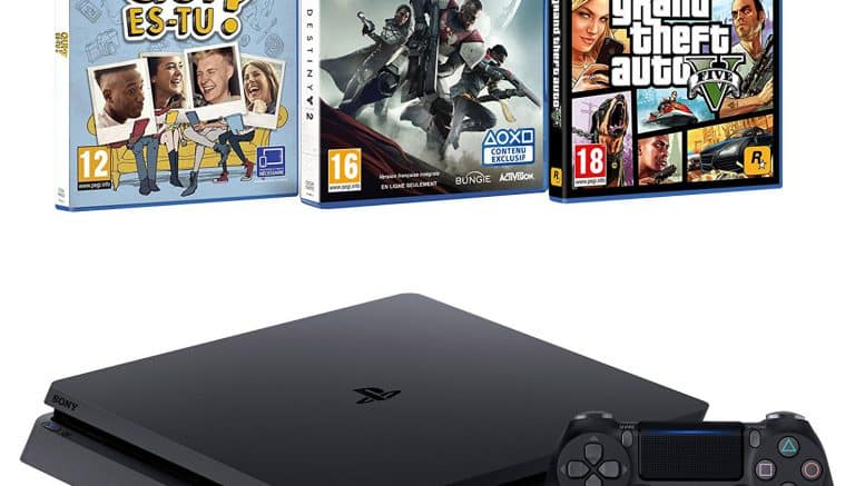 Pack PS4 + Destiny 2 + GTA V + Qui es-tu