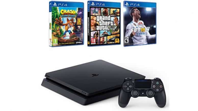 bon plan pack ps4 1to fifa18 gta v crash bandicoot. Black Bedroom Furniture Sets. Home Design Ideas