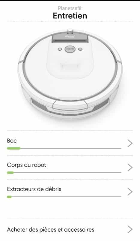 iRobot Roomba 980 config