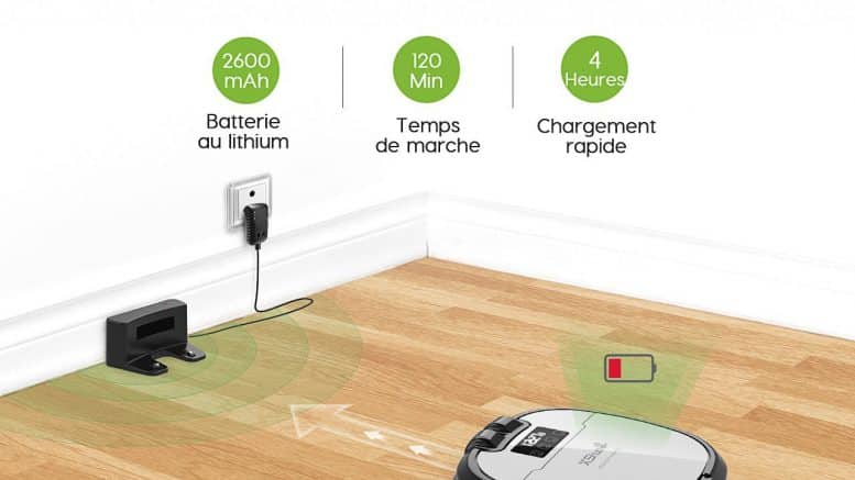 Holife Aspirateur Robot 4 en 1
