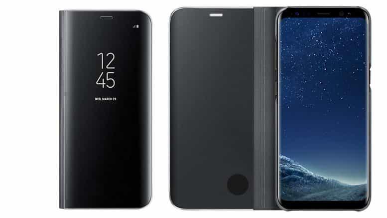 Samsung Galaxy S8 coque translucide à rabat
