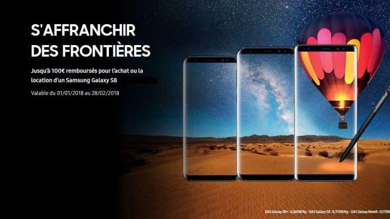 Samsung Galaxy S8 promo 100€