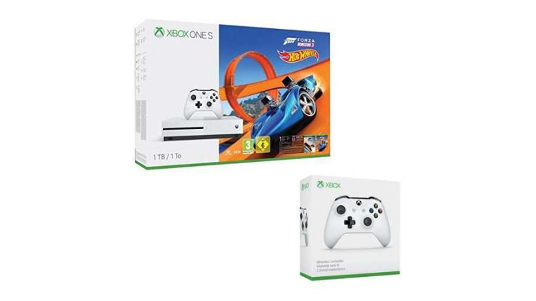 bon plan la console xbox one s 1to forza horizon 3 hot wheels 2e manette seulement 249. Black Bedroom Furniture Sets. Home Design Ideas