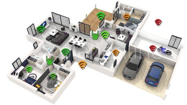 plan répéteur Wi-Fi