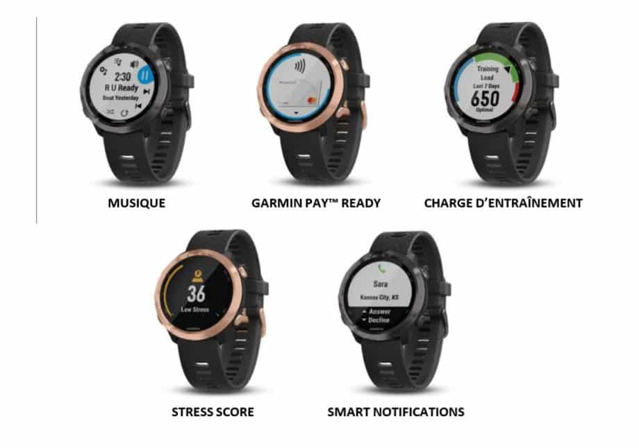 Garmin Forerunner 645 Music Rose Gold models