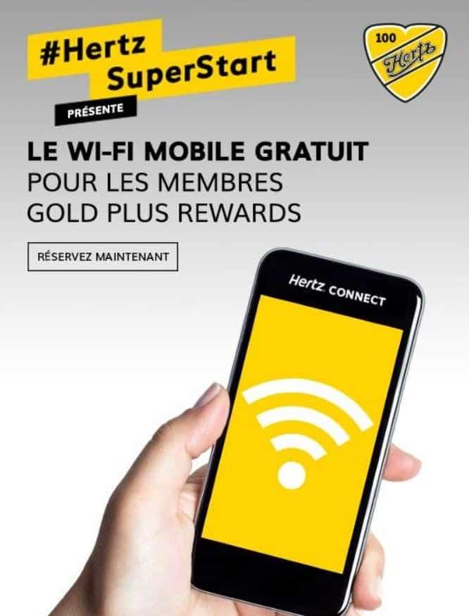Hertz offre le wi fi gratuit ses clients for Ses gratuit