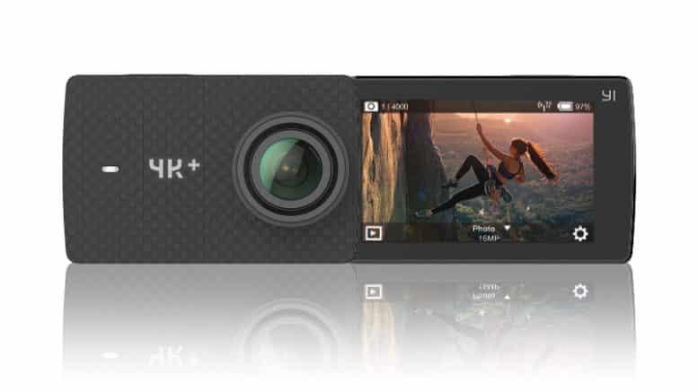 YI 4K+ Caméra d'action, 12MP Ecran Tactile LCD 2.2