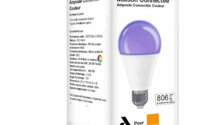 AWox ampoules connectees Orange