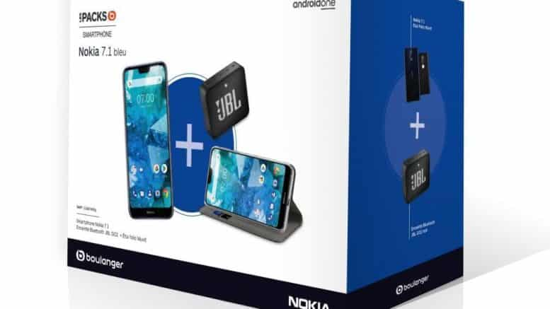 Pack Nokia 7.1+Etui Muvit+Enceinte JBL Go 2