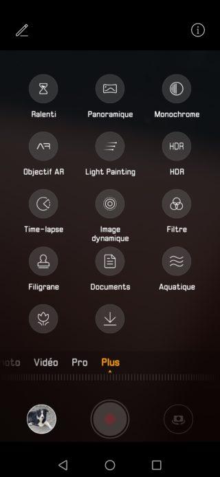 Huawei p30 pro mode automatique