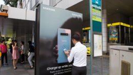 Samsung JCDecaux Bus qi