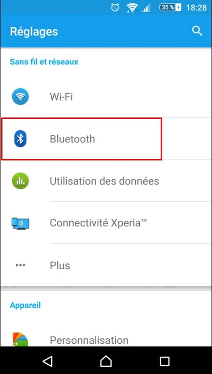 BLuetooth Appairage