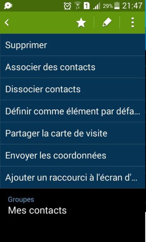 Partage de contact