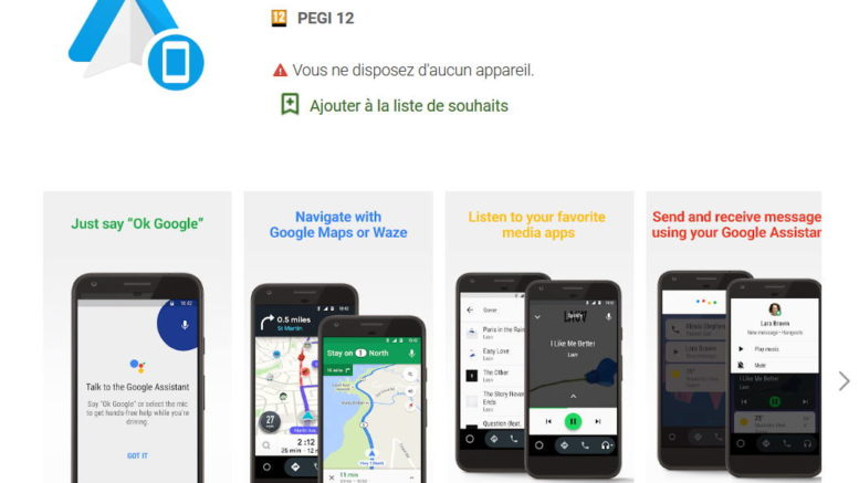 Android auto pour smartphone