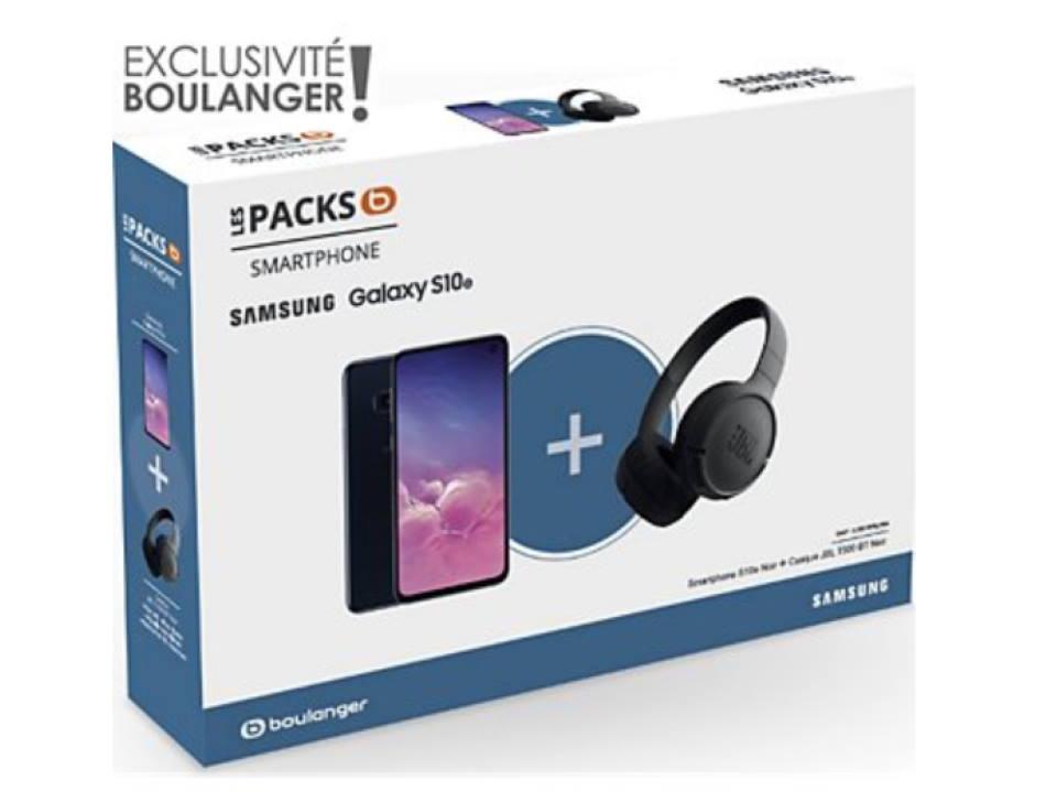 smartphone samsung pack s10e casque jbl t500 bt