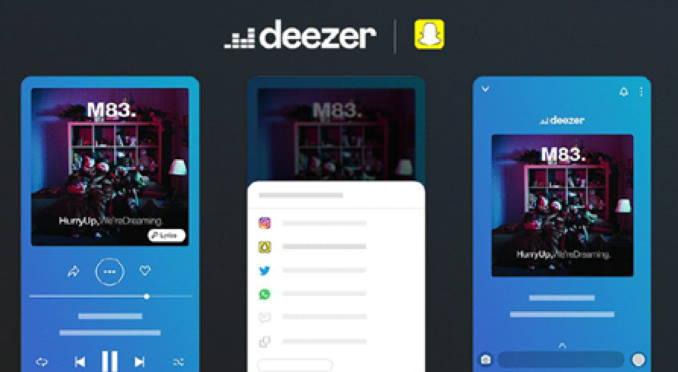 deezer Snapchat