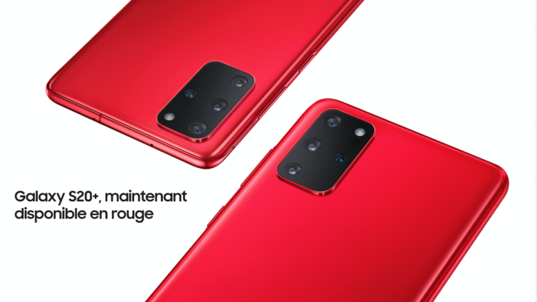 Galaxy S20+ rouge