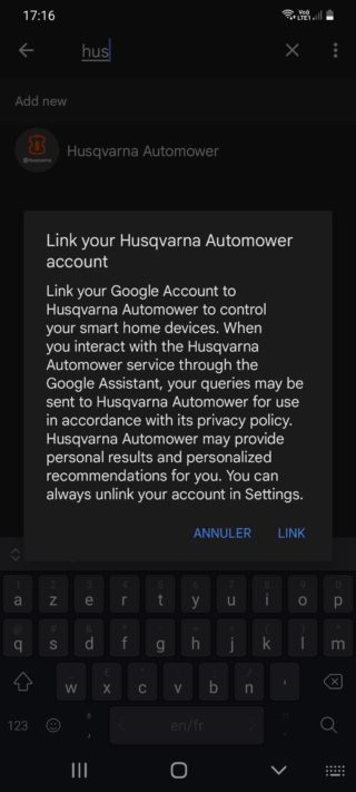 Husqvarna automower 405X config